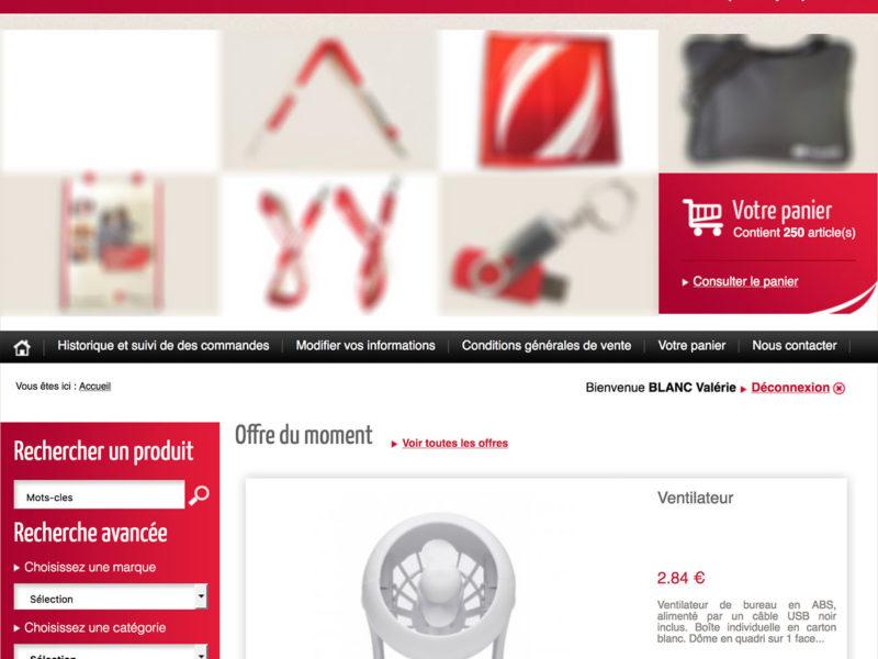 Nos solutions e-boutique pour la gestion des commandes de vos objets publicitaires